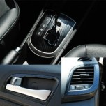 [ARTX] Hyundai New Accent - 3D Carbon Fabric Decal Stickers (Gear panel, handle, ducts, door catch)