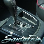 [ARTX] Hyundai Santa Fe CM - Carbon Fabric Gear Panel & Gear Knob Decal Stickers