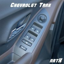 [ARTX] Chevrolet Trax - 3D Carbon Fabric Window Switch Decal Stickers