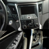 [ARTX] Hyundai i40 - Carbon Fabric Decal Stickers (window switches, gear panel, ducts)