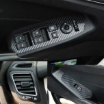 [ARTX] KIA K7 - 3D Carbon Fabric Decal Stickers (Window switches, air vents)