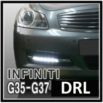 [MOTORSPY] Infiniti G35 / G37 - Power LED Daytime Running Lights (DRL) Set