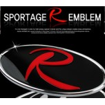 [7X] KIA Sportage  R - R-Logo Replacement Emblem + R-Logo cover Set