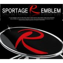 [7X] KIA Sportage  R - R-Logo Replacement Emblem + R-Logo cover Set