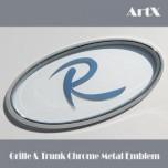 [ARTX] KIA Sportage R / Sorento R / All New Sorento UM - Chrome Metal Tuning Emblem No.12