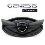 [MEDIGN] Hyundai Genesis Coupe - Custom Wing Black Edition Emblem Set