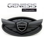 [MEDIGN] Hyundai Genesis Coupe - Custom Wing Black Edition Emblem Set