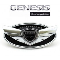 [GREENTECH] Hyundai Genesis Coupe - Custom Wing Chrome Edition Emblem Set