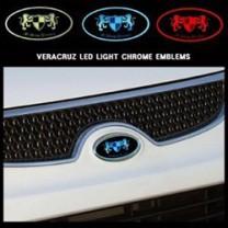 [ARTX] Hyundai Veracruz - Chrome Luxury Generation LED Emblem Set