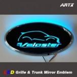 [ARTX] Hyundai Veloster - LED Mirror Tuning Emblem Set No.85