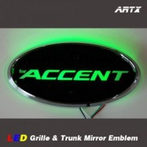 [ARTX] Hyundai New Accent - LED Mirror Tuning Emblem Set No.86