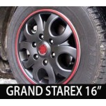 [7X] Hyundai Grand Starex - Black Matte Wheel Cover  Set 16""