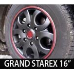 "[7X] Hyundai Grand Starex - Black Matte Wheel Cover  Set 16"""