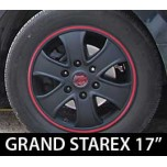 [7X] Hyundai Grand Starex - Black Matte Wheel Cover  Set 17""