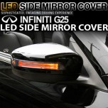 [GREENTECH] Infiniti G25 - LED Side Mirror Cover with Repeaters
