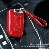 [AEGIS] Hyundai Genesis Coupe - Custom Made Smart Key Leather Key Holder (4 Buttons)