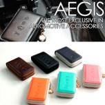 [AEGIS] KIA K3 - Smart Pop Smart Key Leather Key Holder 4 Buttons
