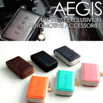 [AEGIS] KIA K3 - Smart Pop Smart Key Leather Key Holder 4 Buttons