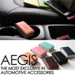 [AEGIS] KIA Forte - Smart Pop Smart Key Leather Key Holder (4 Buttons)