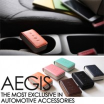 [AEGIS] KIA K9 - Smart Pop Smart Key Leather Key Holder (4 Buttons)