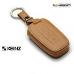 [KEINZ] HYUNDAI - Smart Key Leather Pouch Egg Key Holder (3 Buttons)