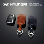 [HYUNDAI] Hyundai Santa Fe DM - New Smart Key Leather Key Holder (4 Buttons) Regular Type