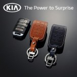 [KIA] KIA K9 - New Smart Key Leather Key Holder (4 Buttons) DLX Type