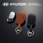 [HYUNDAI] Hyundai (New) Tucson ix - New Smart Key Leather Key Holder (4 Buttons) Regular Type