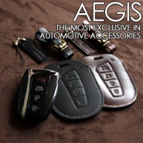 [AEGIS] Hyundai Santa Fe DM - Smart Key Leather Key Holder SEASON III (with Strap)