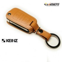 [KEINZ] Hyundai New Accent - Folding Key Leather Key Holder (2 Buttons)