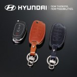 [HYUNDAI] Hyundai (New) Tucson ix - New Folding Type Smart Key Leather Key Holder (4 Buttons)