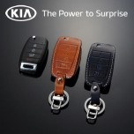 [KIA] KIA All New Pride - New Folding Type Smart Key Leather Key Holder (4 Buttons)
