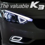 "LED-модули ""Ангельские глазки"" в ПТФ 1533L2 Power - KIA K3 (EXLED)"