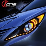 [IONE] Hyundai YF Sonata - Projector Type LED Audi-Line Headlights Modules (TF Version)