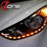 [IONE] Hyundai Avante MD - Projector Type LED Audi-Line Headlights Modules (TF Version)