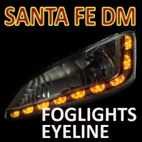 [GOGOCAR] Hyundai Santa Fe DM - LED Foglights D-Block Eyeline DIY Kit