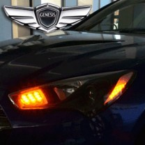 [EXLED] Hyundai The New Genesis Coupe - Front Reflector Active Sequential 2Color LED Modules