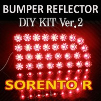 [GOGOCAR] KIA Sorento R - Rear Bumper Reflector LED Modules Ver.2 (Block Type) DIY Kit