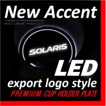 [DXSOAUTO] Hyundai New Accent - LED Cup Holder & Console Plate Export