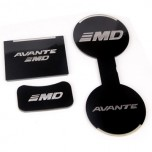 [7X] Hyundai The New Avante MD - LED Cup Holder & Console Interior Luxury Plates Set