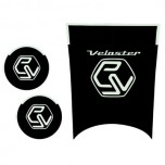 [7X] Hyundai Veloster - LED Cup Holder & Console Interior Luxury Plates Set