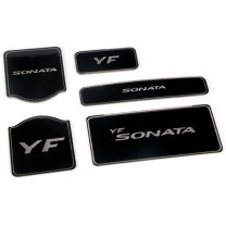 [7X] Hyundai YF Sonata - LED Cup Holder & Console Interior Luxury Plates Set