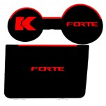 [7X] KIA Forte - LED Cup Holder & Console Interior Luxury Plates Set