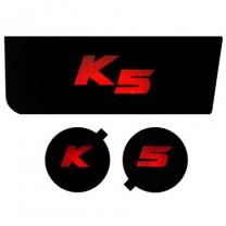 [7X] KIA K5 - LED Cup Holder & Console Interior Luxury Plates Set