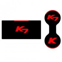 [7X] KIA K7 - LED Cup Holder & Console Interior Luxury Plates Set