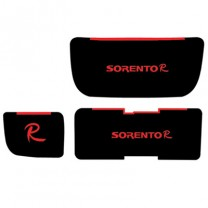 [7X] KIA New Sorento R - LED Cup Holder & Console Interior Luxury Plates Set