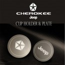 [CHANGE UP] Jeep Grand Cherokee  - LED Cup Holder Plates Set