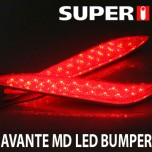 [SUPER I] Hyundai Avante MD - LED Rear Bumper Reflector Ver.2