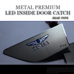 [CHANGE UP] Hyundai New Genesis DH​ - Blue Metal Premium LED Inside Door Catch Plates Set