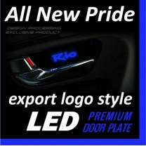 [DXSOAUTO] KIA All New Pride - LED Premium Door Plate Set Export
